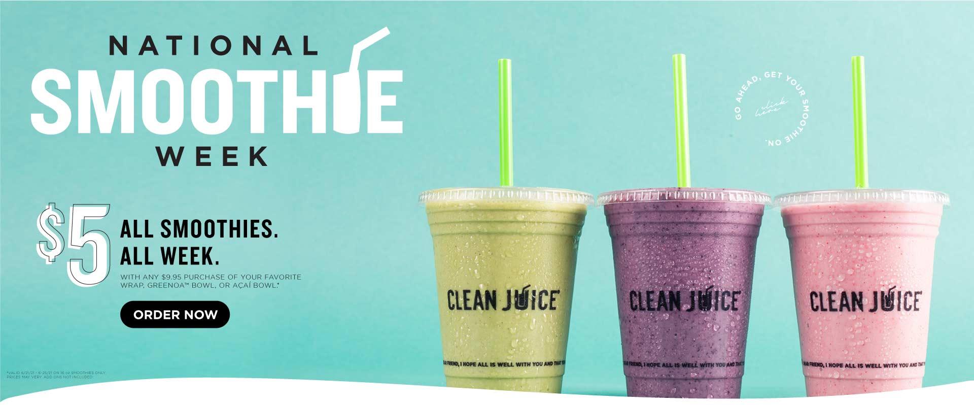 Clean Juice Summer Banner